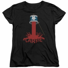 Carrie Womens Shirt Bucket Of Blood Black T-Shirt