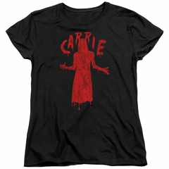 Carrie Womens Shirt Silhouette Black T-Shirt