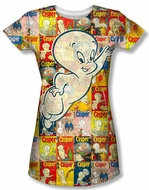Casper The Friendly Ghost Covered Juniors Sublimation Shirt