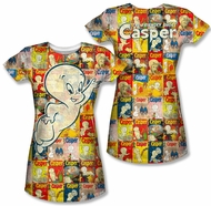 Casper The Friendly Ghost Covered Juniors Sublimation Shirt Front/Back Print