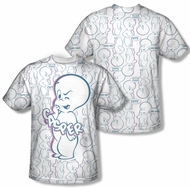 Casper The Friendly Ghost Friendly Ghost Sublimation Shirt Front/Back Print