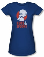 Casper The Friendly Ghost Shirt Juniors Spooky Royal Blue Tee