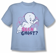 Casper The Friendly Ghost Shirt Kids Seen A Ghost Light Blue Youth Tee