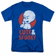 Casper The Friendly Ghost Shirt Spooky Adult Royal Blue Tee T-Shirt