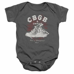 CBGB Baby Romper High Top Shoes Charcoal Infant Babies Creeper