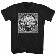 CBGB & OMFUG Shirt Rock Hand Black T-Shirt