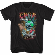 CBGB & OMFUG Shirt Skull Rock Black T-Shirt