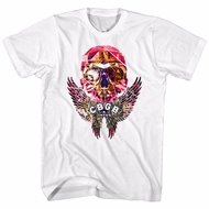 CBGB & OMFUG Shirt Skull Wings White T-Shirt