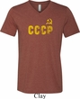 CCCP Insignia Mens Tri Blend V-neck Shirt