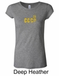 CCCP Ladies T-shirt Soviet Union USSR Insignia Longer Length Shirt