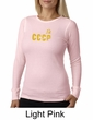 CCCP Ladies T-shirt Soviet Union USSR Russia Insignia Thermal Shirt