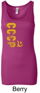 Cccp Ladies Tank Longer Length Tanktop Vertical Print