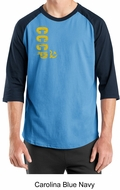 Cccp Raglan Shirt Chest Print Adult Shirt