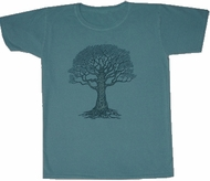 Celtic Tree Shirt New Age Pigment Dyed Distressed Tee Shirt