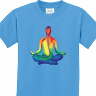 Chakra Lotus Pose Kids Yoga Shirts