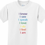 Chakra Words Kids Yoga Shirts