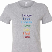 Chakra Words Ladies Yoga Shirts