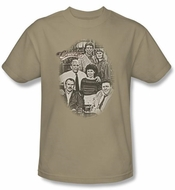 Cheers Sand Color Adult T-shirt - Original Cast Tee