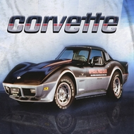 Chevy Blue Corvette Vette Check Flag Sublimation T-shirts