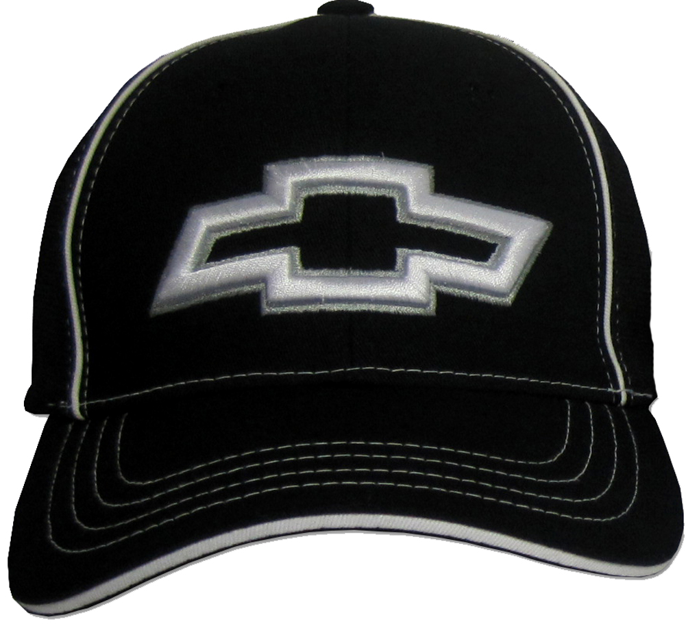 Chevy Bowtie 3d Hat Fitted Flexfit Fine Embroidered Cap