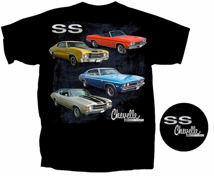 Chevy Chevelle SS T-shirt - Bad SS Adult Tee Shirt - Chevy T-shirts