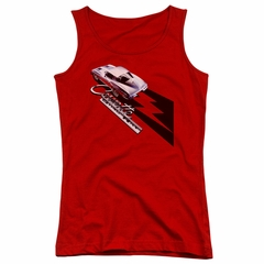 Chevy Juniors Tank Top Split Window Stingray Red Tanktop