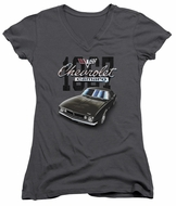 Chevy Juniors V Neck Shirt Chevrolet Classic Camaro Charcoal T-Shirt