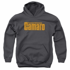 Chevy Kids Hoodie Camaro Command Performance Charcoal Youth Hoody
