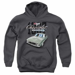 Chevy Kids Hoodie Chevrolet 1967 Classic Camaro Charcoal Youth Hoody