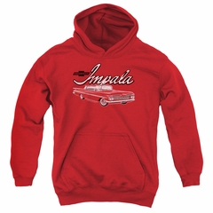 Chevy Kids Hoodie Impala Red Youth Hoody