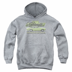 Chevy Kids Hoodie Vega Car Of The Year 71 Athletic Heather Youth Hoody