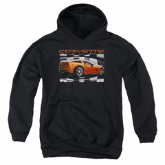Chevy Kids Hoodie ZO6 checkered Black Youth Hoody