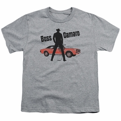 Chevy Kids Shirt Boss Sports Grey T-Shirt