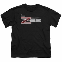 Chevy Kids Shirt Camaro Z28 Logo Black T-Shirt
