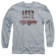 Chevy Long Sleeve Shirt Car Of The Year Sports Grey Tee T-Shirt