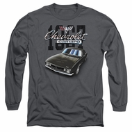 Chevy Long Sleeve Shirt Chevrolet Classic Camaro Charcoal Tee T-Shirt
