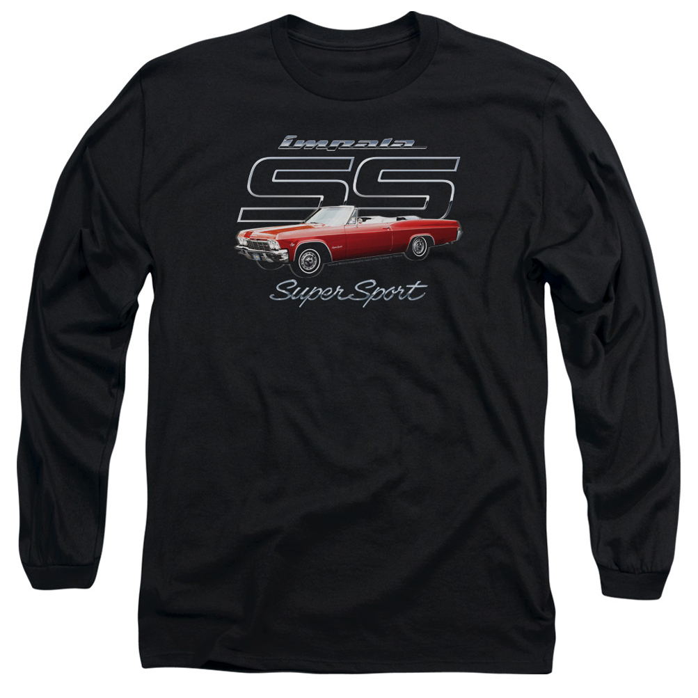 chevy long sleeve shirt impala ss black tee t shirt. Black Bedroom Furniture Sets. Home Design Ideas