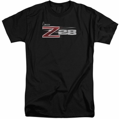 Chevy Shirt Camaro Z28 Logo Black Tall T-Shirt
