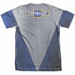 Chevy Shirt Chevrolet Shiny Bowtie Logo Poly/Cotton Sublimation Shirt Front/Back Print