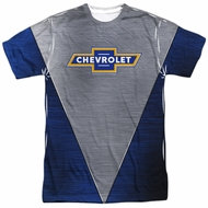 Chevy Shirt Chevrolet Shiny Bowtie Logo Sublimation Shirt Front/Back Print