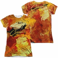 Chevy Shirt Painted Stingray Sublimation Juniors Shirt Front/Back Print
