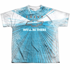 Chevy Shirt We'll Be There Sublimation Youth Shirt