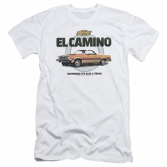 Chevy Slim Fit Shirt Also A Truck White T-Shirt