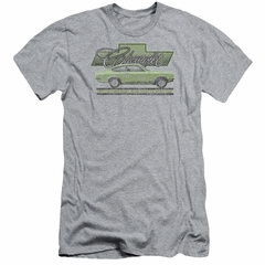 Chevy Slim Fit Shirt Vega Car Of The Year 71 Athletic Heather T-Shirt
