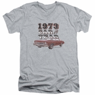 Chevy Slim Fit V-Neck Shirt Car Of The Year Sports Grey T-Shirt