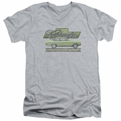 Chevy Slim Fit V-Neck Shirt Vega Car Of The Year 71 Athletic Heather T-Shirt