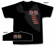 Chevy SS T-Shirt - Super Sport Muscle Car Adult Black Tee