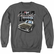 Chevy Sweatshirt Chevrolet Classic Camaro Adult Charcoal Sweat Shirt