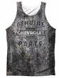 Chevy Tank Top Genuine Parts Metal Bowtie Sublimation Tanktop Front/Back Print