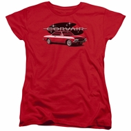 Chevy Womens Shirt Corvair Spyda Coupe Red T-Shirt